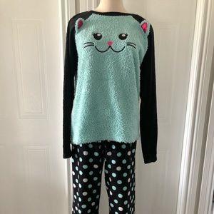 Justice Fuzzy Cat Pyjama Set